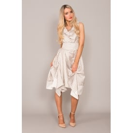 Bethany stripe taffeta dress