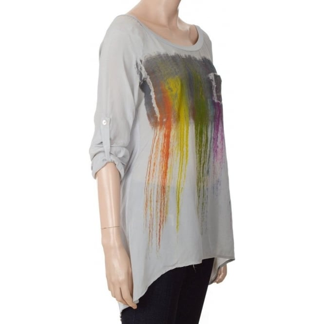 Paint run top - Grey