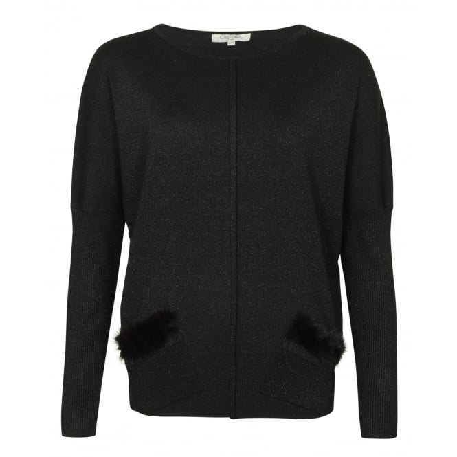 Christina Stephanie lurex knit