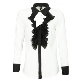Mila ruffle front blouse