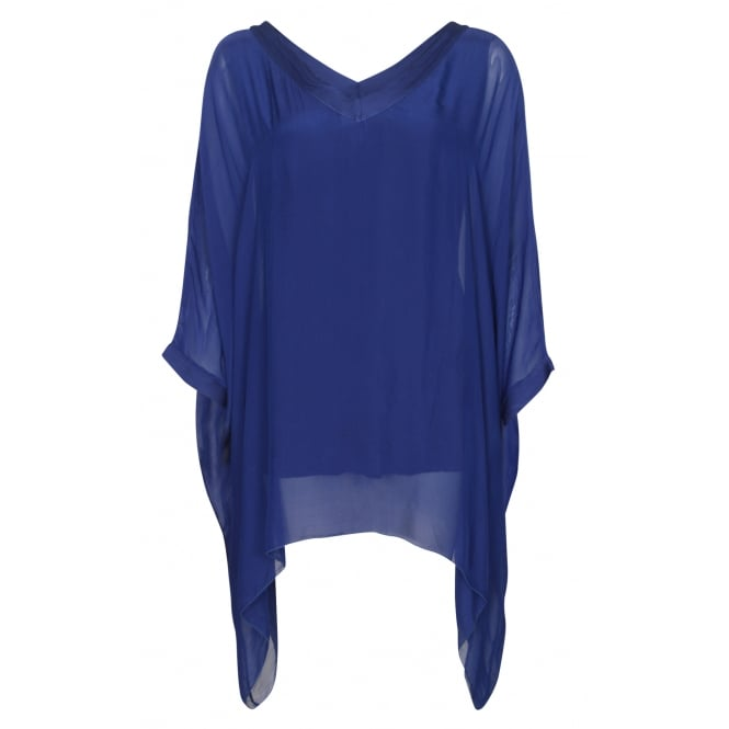 Fox Barbara plain silk top