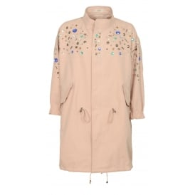 Abigail jewelled parka