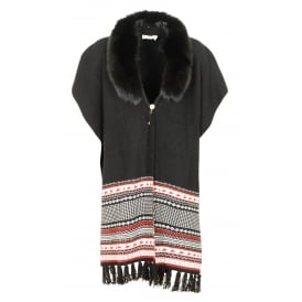 Jackie fairisle cape