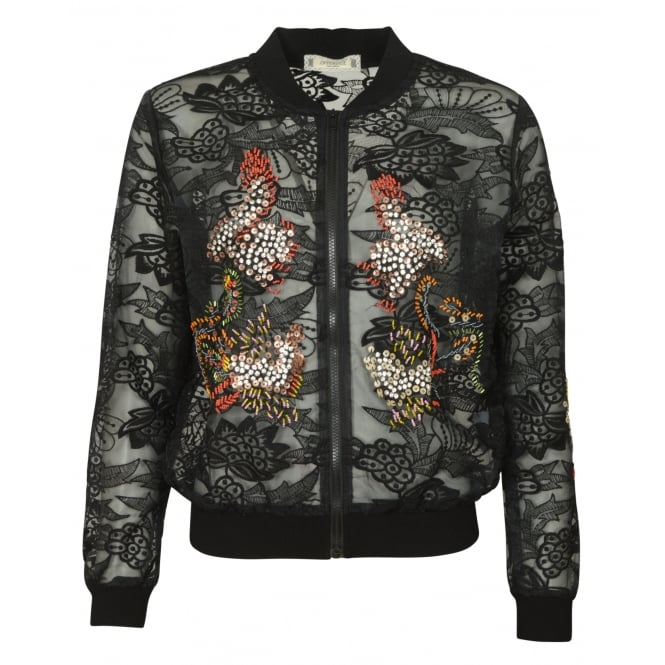 Interdee Lola lace bomber jacket