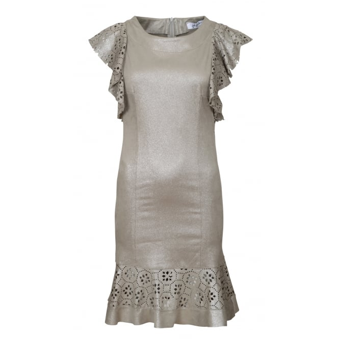 Jeff Gallano Rossini laser cut dress