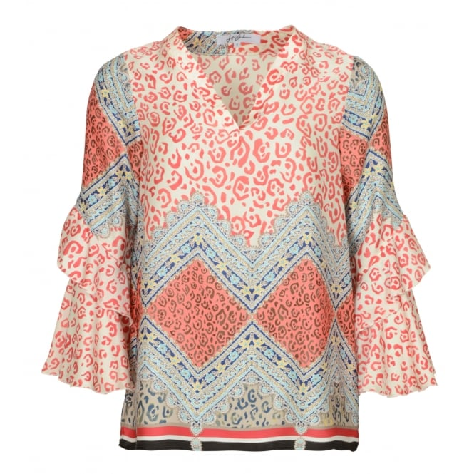 Jeff Gallano Thriller printed top