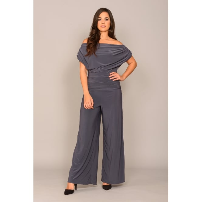 Jolaby Carbon off shoulder jumpsuit