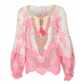 Crazy embroidered top