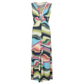 Smarty knot front maxi dress