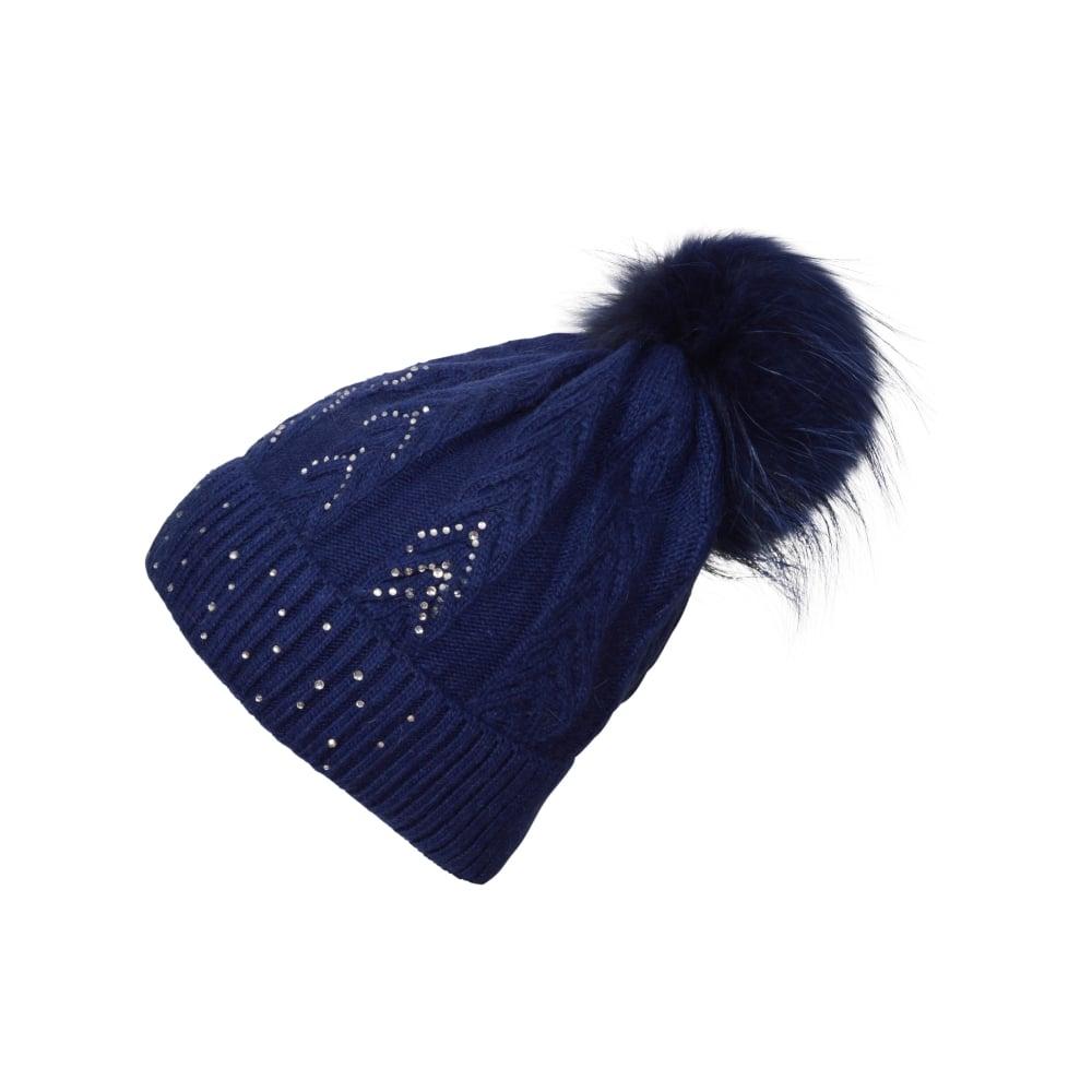 Malini Chelsea diamante bobble hat - Departments from Malini UK e8163393085