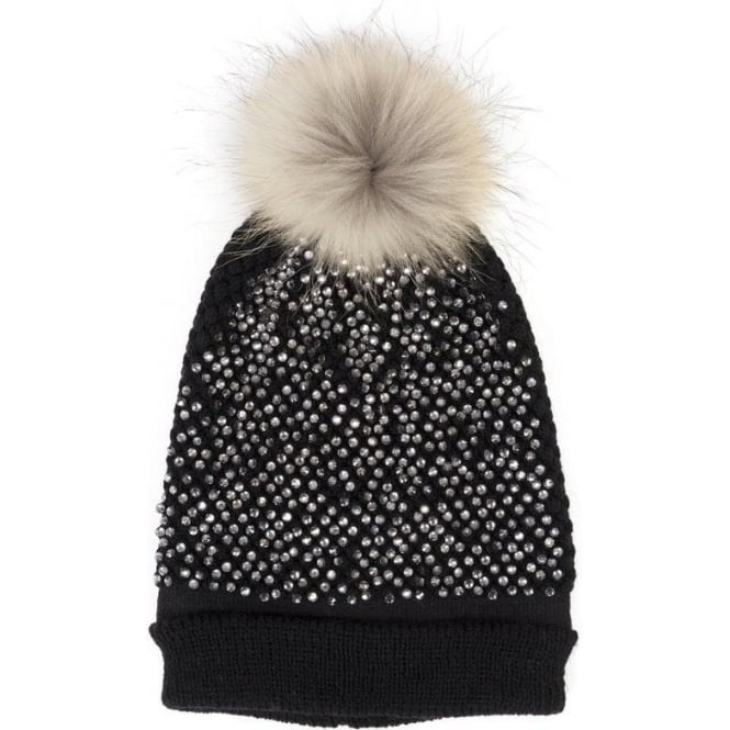 1913aabc16b Malini Sequin bobble hat