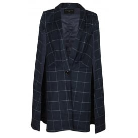 Duchesse check cape
