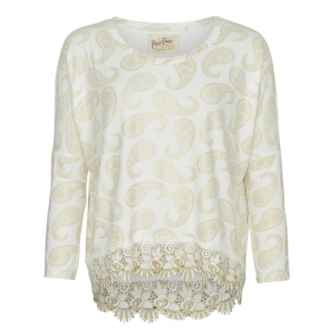 Postcard from Brighton Paris lace top