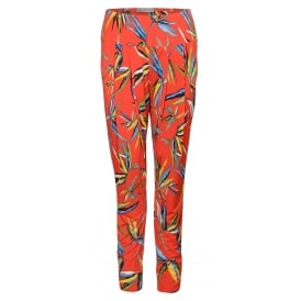 Bandol pleat front print trouser