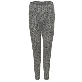 Bandol pleat front print trousers