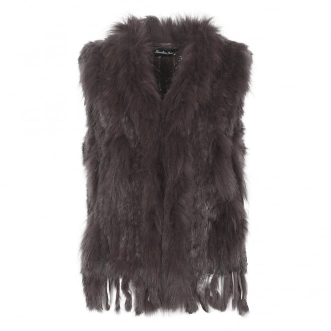 Sensation Folie Emmi short lapin fur gilet