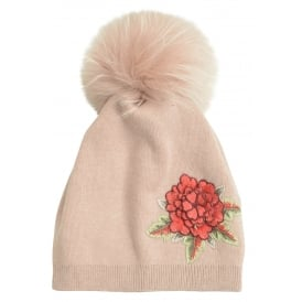 Rosie floral embroidered hat