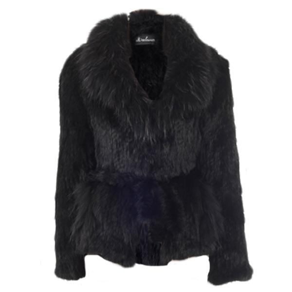 Sensation folie short fur jacket black departments from - Folie fur kuchenruckwand ...