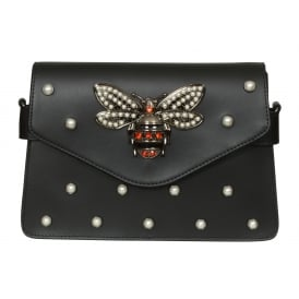 Olivia dragonfly leather bag