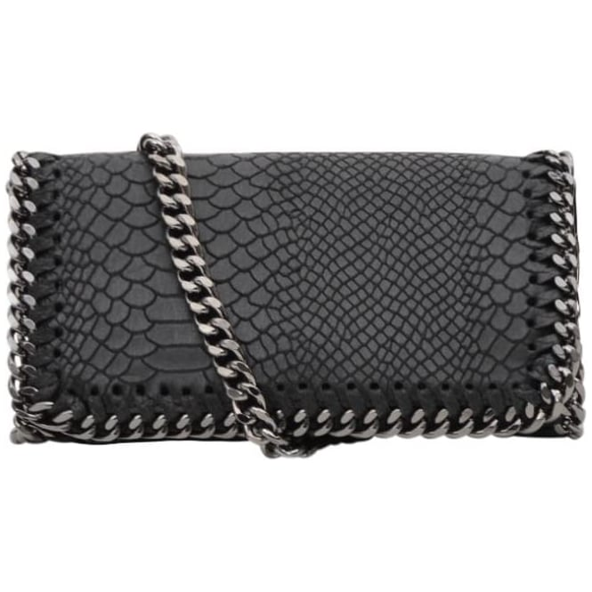 b3c1d545c379a Vimoda Small leather chain snake bag S16 - Black - Departments from ...