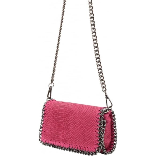 aea0c706e7421 Vimoda Small leather chain snake bag S16 - Pink - Departments from ...